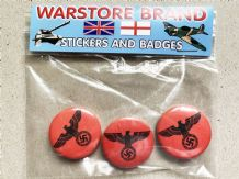 NAZI EAGLE  - BUTTON BADGE PACK OF 3
